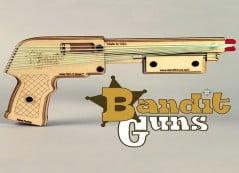 Shoot rubber bands like a true bad*ss bandit.