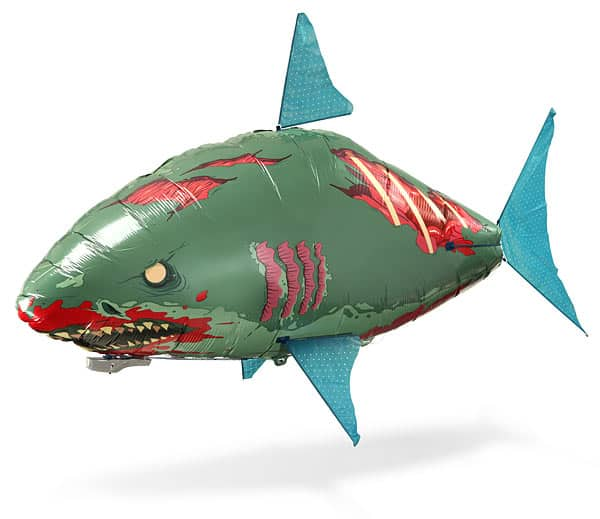 Thinkgeek flying zombie shark noveltystreet for Remote control flying fish