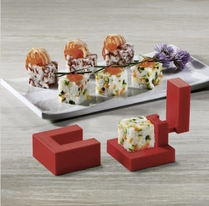 A square sushi is a cooler sushi.