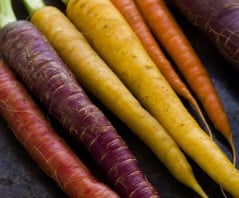 Get your dosage of rainbow carrot goodness!