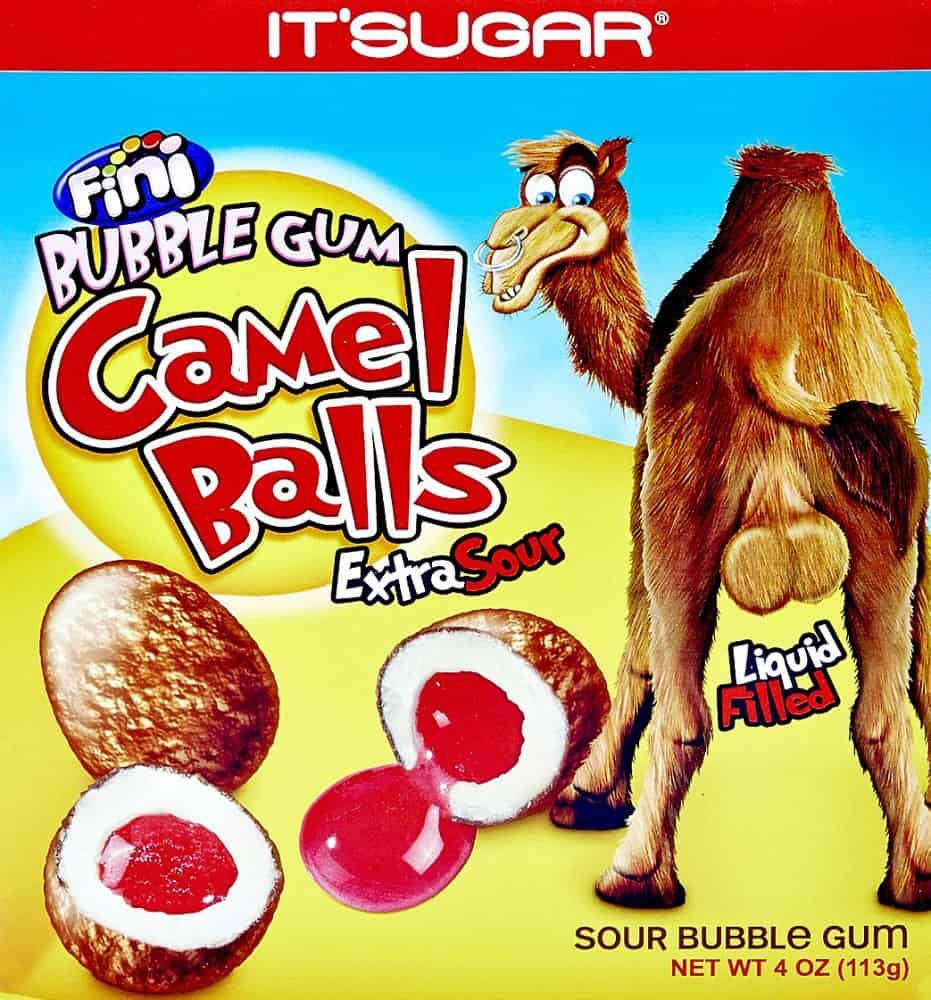 Camel Balls Box Sour Gumballs