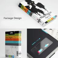 Magic Pencil Earphones Colorful Packaging Design