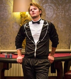 Super comfy tuxedo made from tracksuit material.