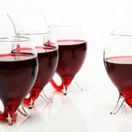 Vampire Wine Glass Group of Little Red Wine Cups