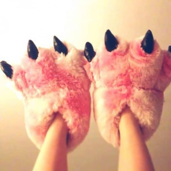 Why are your slippers not pink and fuzzy!?