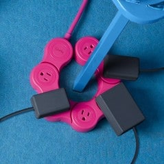 Bend that power strip to fit all kinds of plugs and adaptors.