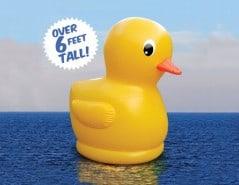 Hide your kids it's the gigantic rubber ducky!