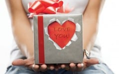"""Nothing says """"Love You"""" better than a torn sticker."""