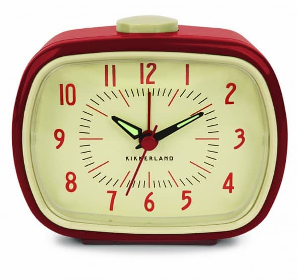 Kikkerland Retro Alarm Clock Red Cool Gift Idea for Old People ...