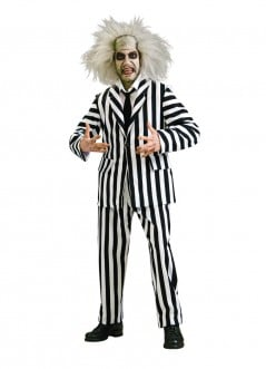 Black and white stripes for Halloween.