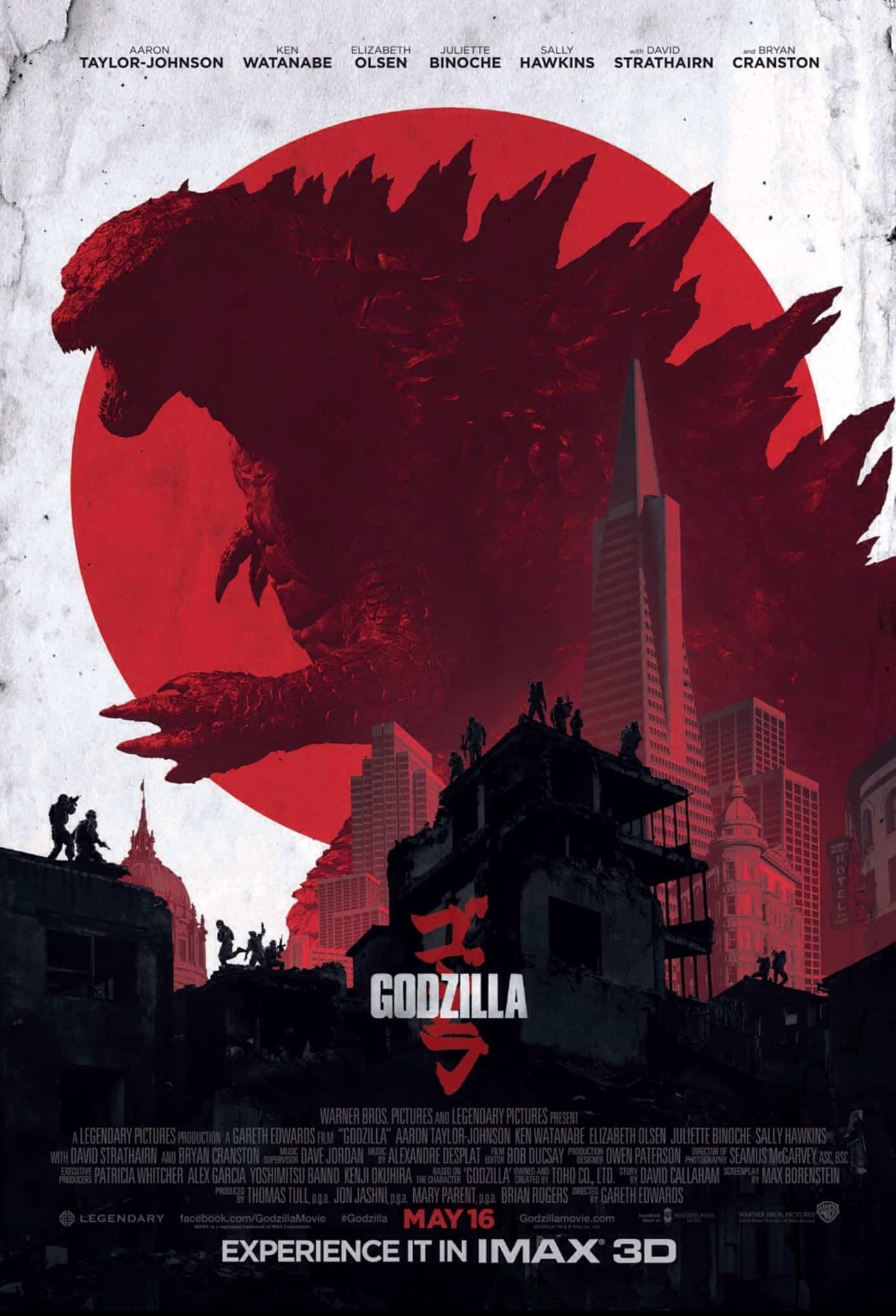 godzilla 2014 official imax movie poster noveltystreet