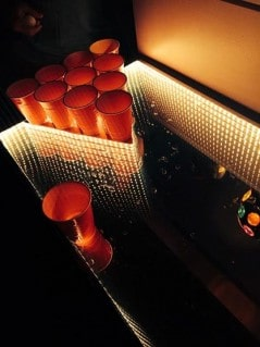 Beer pong never glowed so awesome.