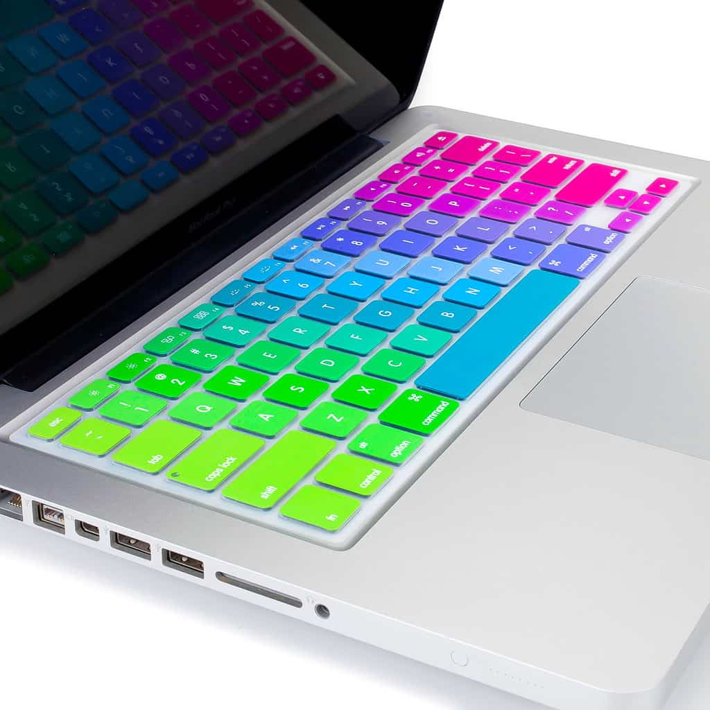 Protect your keyboard with the colors of the rainbow.