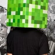 Minecraft Steve & Creeper Head Costume Box Art