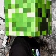 Minecraft Steve & Creeper Head Costume Simple Cosplay Idea