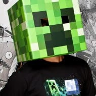 Minecraft Steve & Creeper Head Costume Weird and Creepy Stuff to Buy