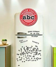 Say it fridge font style.