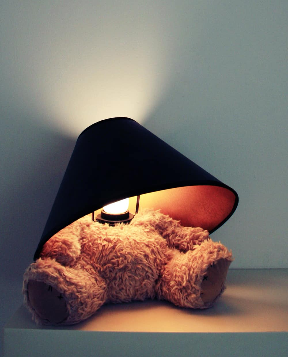 Teddy bear and lamp in one.