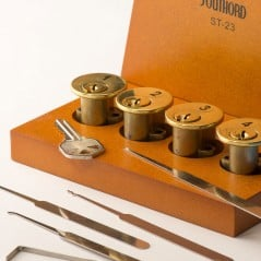 Progressive learning system for lock picking.