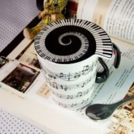 Muise Musical Notes Mug  Creative Gift Idea