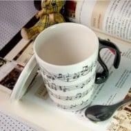 Muise Musical Notes Mug  Interesting Novelty Item