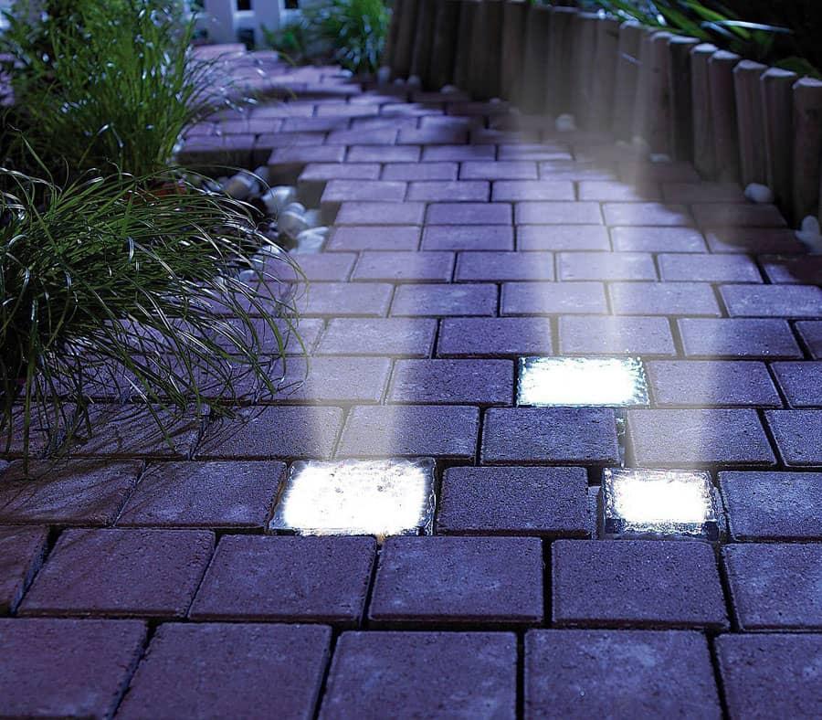 signstek solar powered path brick paver light noveltystreet. Black Bedroom Furniture Sets. Home Design Ideas