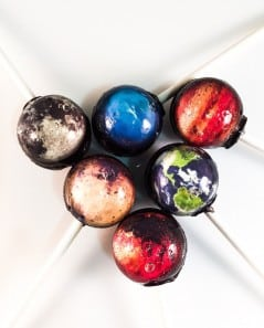 Tasty planets on a stick.