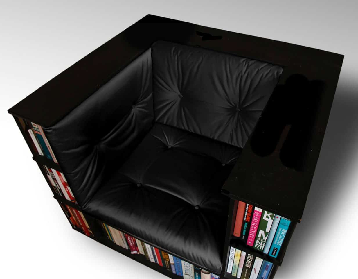 Luxury Club Library Bookcase Chair by Alexander Love - NoveltyStreet
