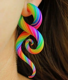 Rainbow twists for your earlobes.