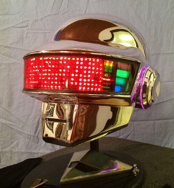 Wear the helmet and become Daft Punk or at least half of it.