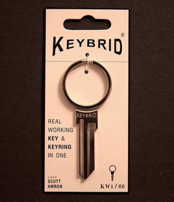 Key with a ring on it.