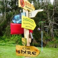 Solitude Valley Fantasy Movie Sign Set to the Shire