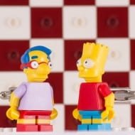 Bart and Millhouse Simpsons Lego Cufflinks Funny Fashion Accessory