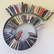 Brianna Kufa Metal Designs Spiral Bookshelf Cool Fixture