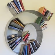Brianna Kufa Metal Designs Spiral Bookshelf Weird Fixture