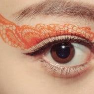 CCL Store  Temporary Tattoo Sticker Eye Makeup Eyeshadow Orange