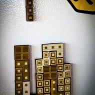 The Back Pack Shoppe Tetris Magnets Small Wooden Toy