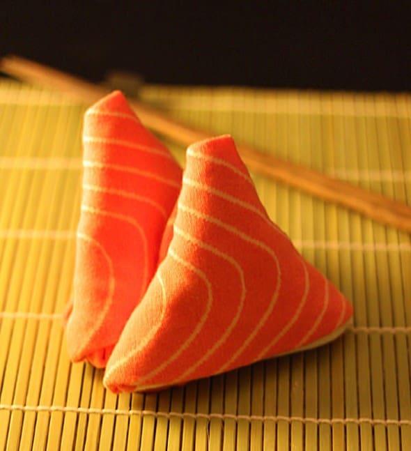 Wear them like a sushi.