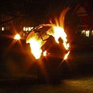 Craftsmen in Metal UK Fire Sphere Sculptural Fire Pit Earth Art