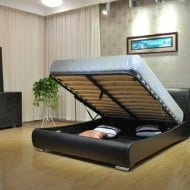 Greatime Bed with Hidden Storage Space Ideal for Apartments