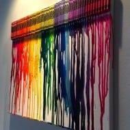 I Want Thattt Melted Crayon Art Playful Artwork