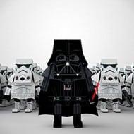 Momot Starwars Darth Vader Paper Craft Figure Cute Art Toy