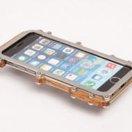 Stone Jelly Wood with Steel Frame iPhone Case Cool Design