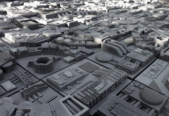 Tile up your room Death Star style!