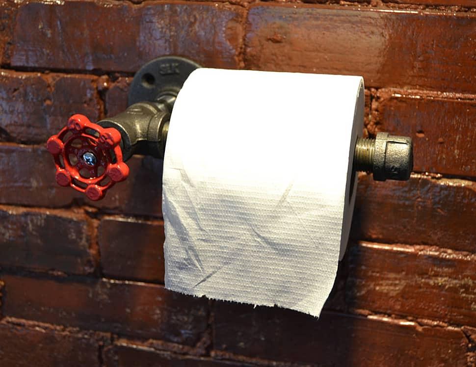 Steampunk Toilet Paper Holder.