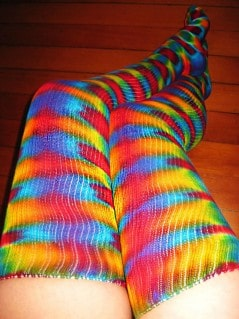 Show off your legs with the color of the psychedelic 60's.