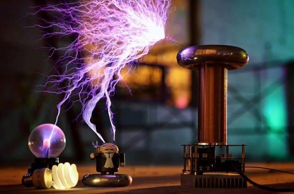 Hear music through electricity.