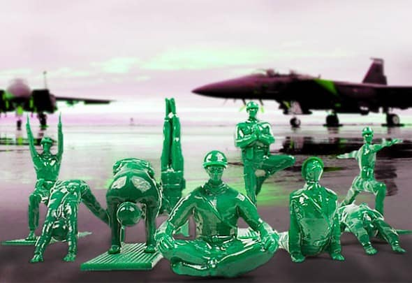 Green army men can do yoga too!