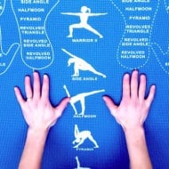 Copycat Yoga Instructional and Educational Yoga Mat Cheat Sheet