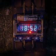 Cyberpunk Wristwatch Retro Futuristic